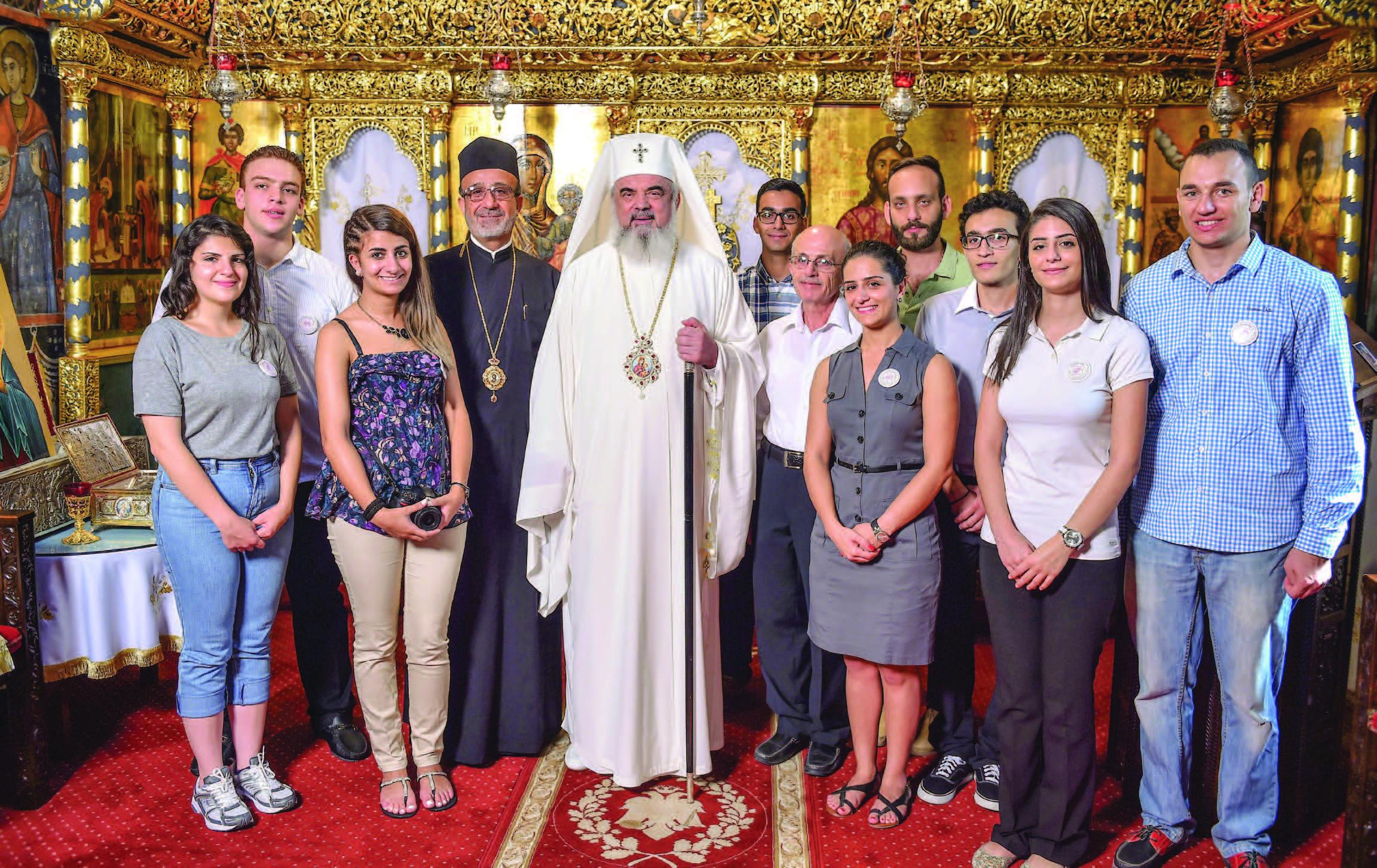 Tineri iordanieni în vizită la Patriarhia Română