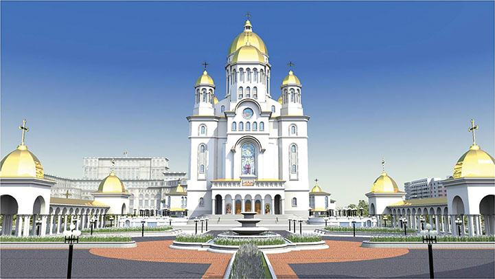 Stadiul lucrărilor la Catedrala Mântuirii Neamului