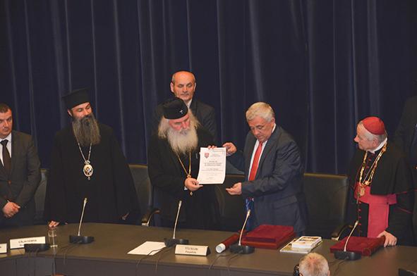 Înaltpreasfințitul Mitropolit Ioan al Banatului – cetățean de onoare  al județului Timiș