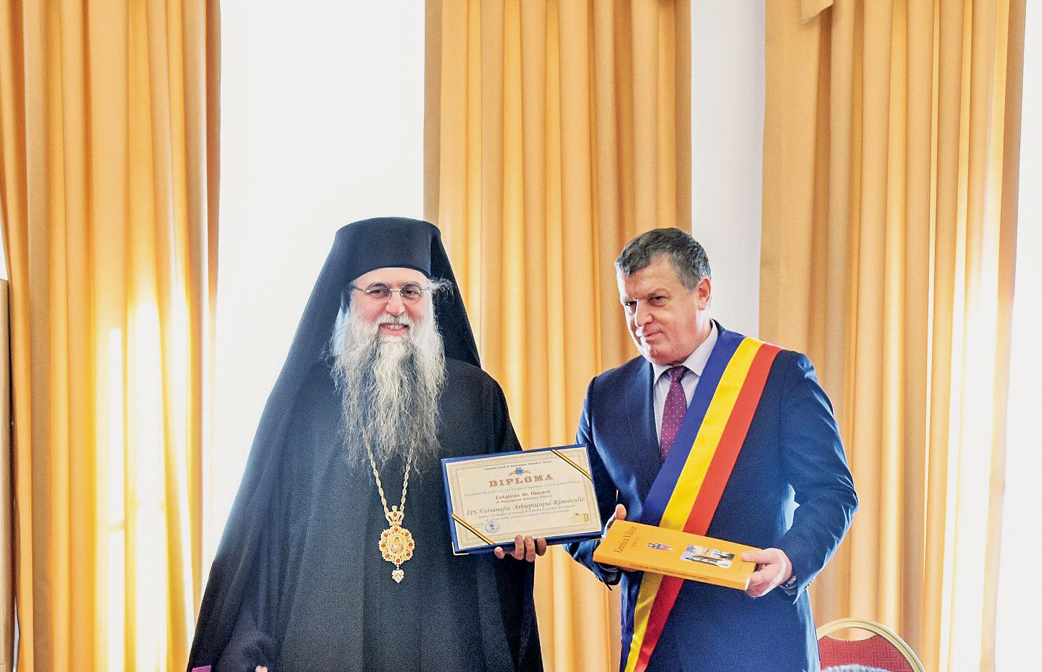 IPS Varsanufie, cetățean de onoare al orașului Râmnicu-Vâlcea