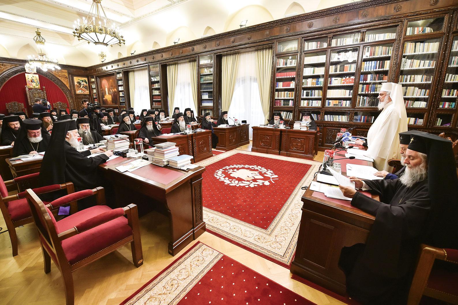Ședință de lucru a Sfântului Sinod al Bisericii Ortodoxe Române