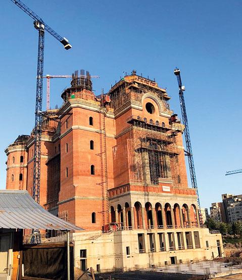 Patriarhul României a vizitat șantierul Catedralei Naționale